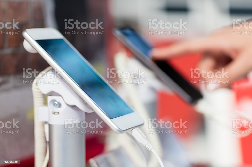 Brand new tablet stock photo