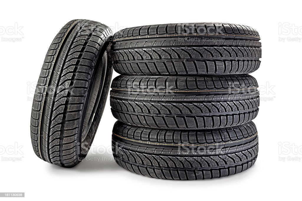 Brand new winter tires royalty-free stock photo