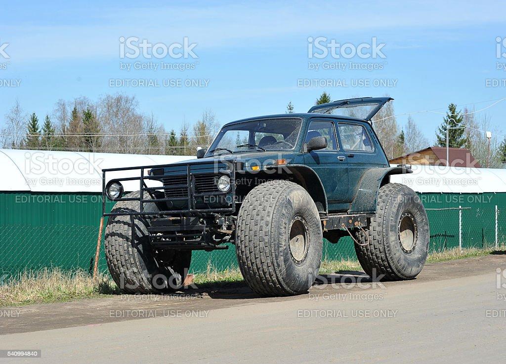 SUV brand Niva vehicle stock photo