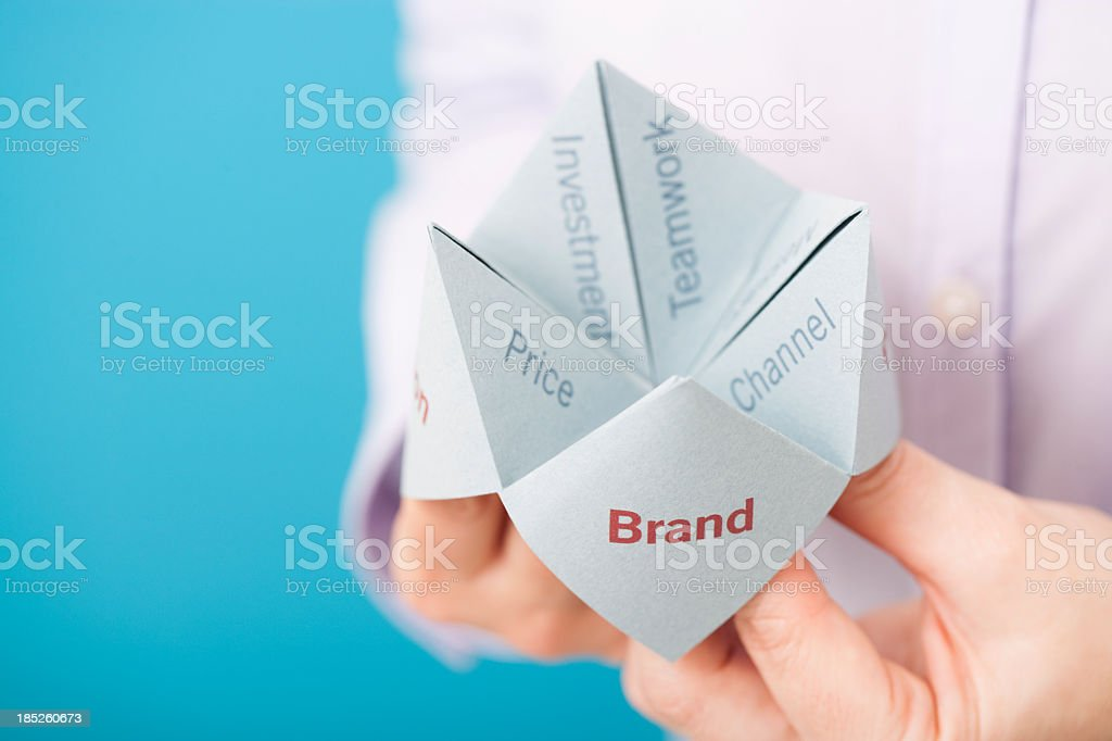 Brand solution royalty-free stock photo