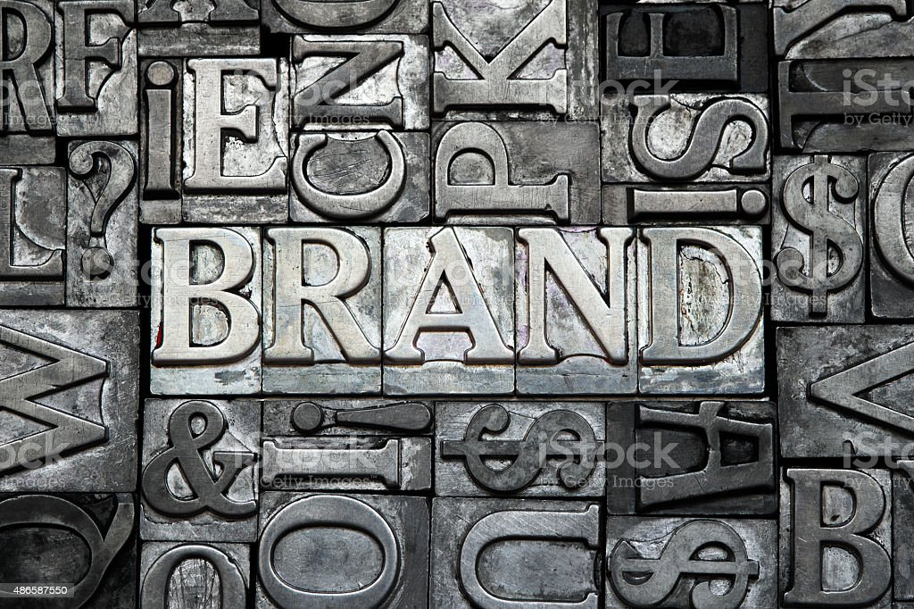brand type stock photo