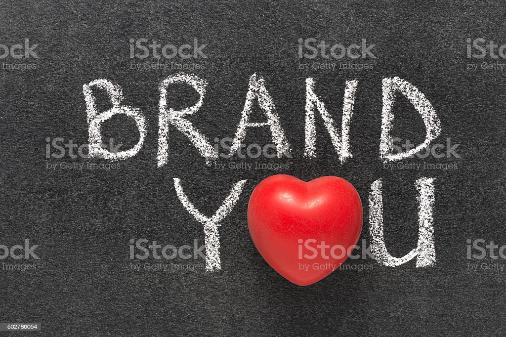 brand you heart stock photo