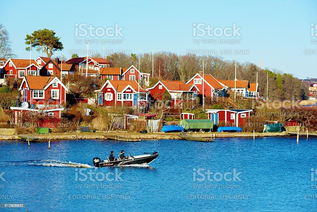 Brandaholm garden cottages stock photo