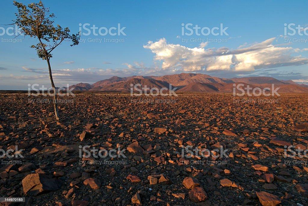 Brandberg sunset stock photo