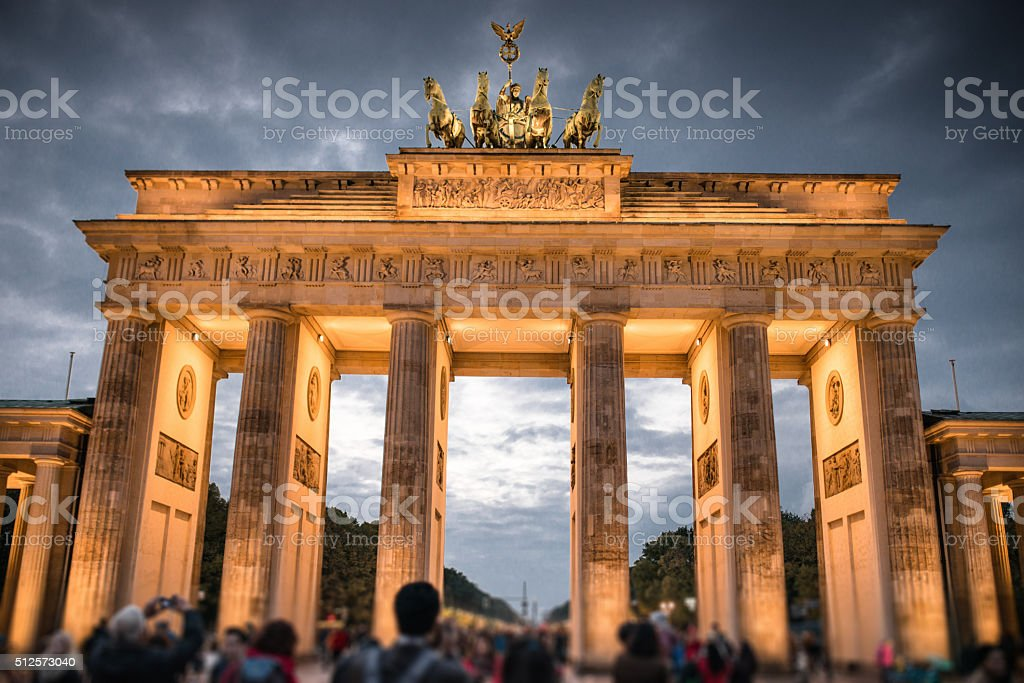 Brandeburg Tor in Berlin stock photo