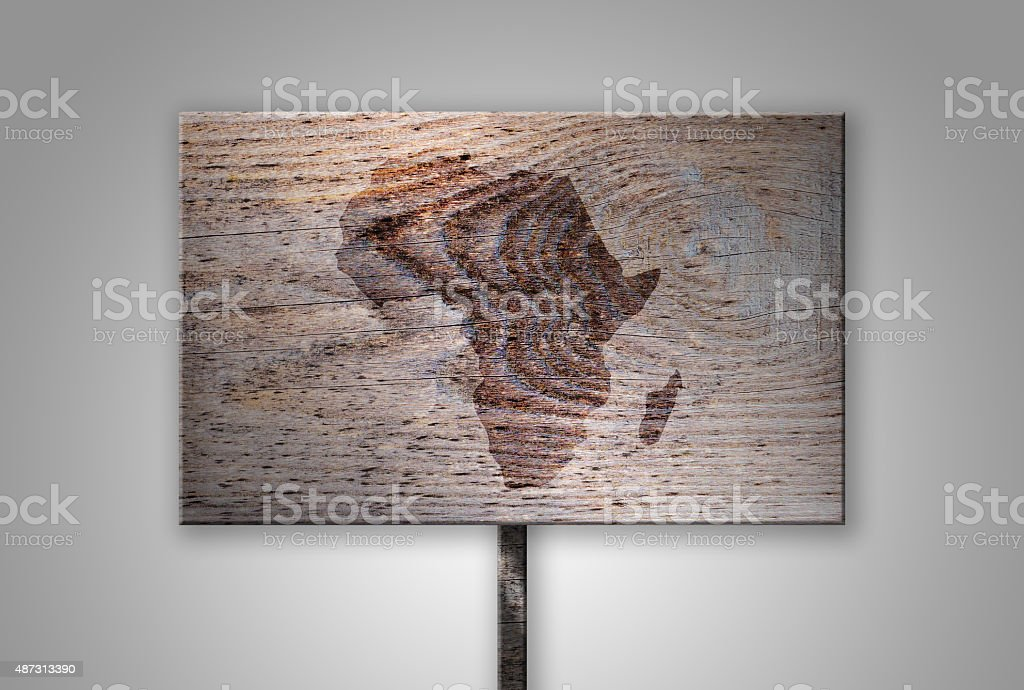 Branded Continent Shape of Africa on Gradient Background Series stock photo