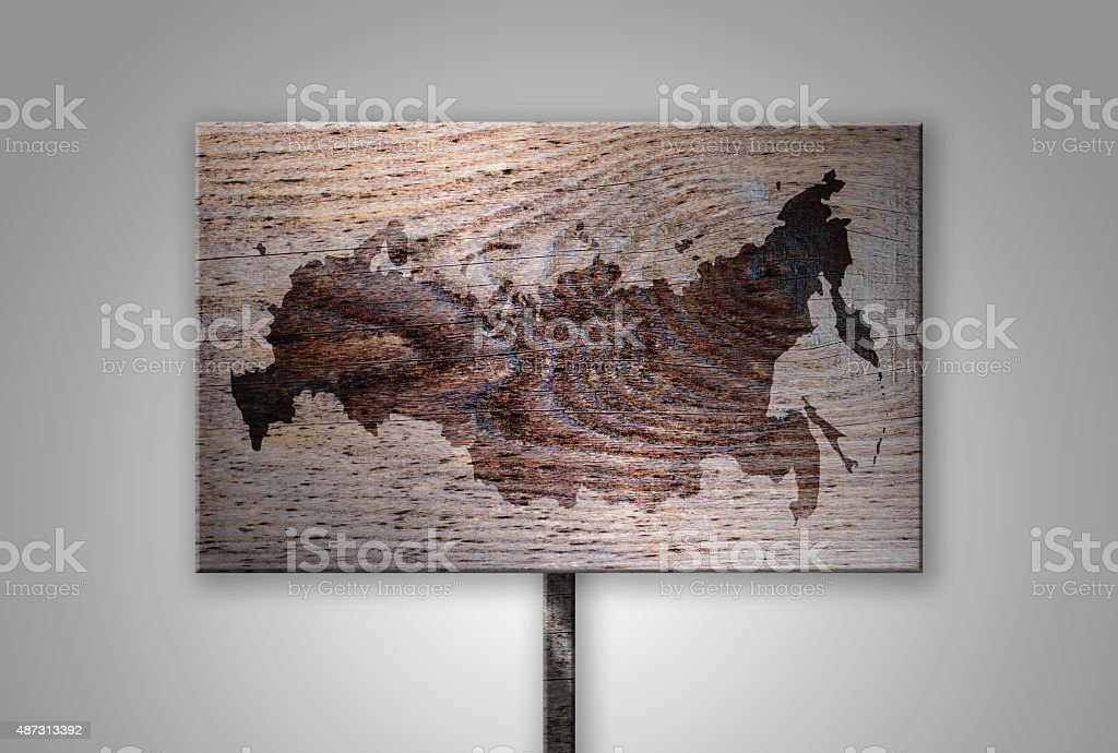 Branded Continent Shape of Asia on Gradient Background Series stock photo