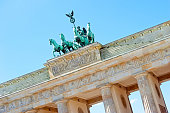 Brandenburg Gate and Qaudriga detail, Berlin, germany