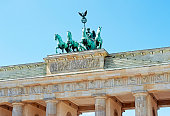 Brandenburg Gate and Quadriga statue, Berlin, Germany