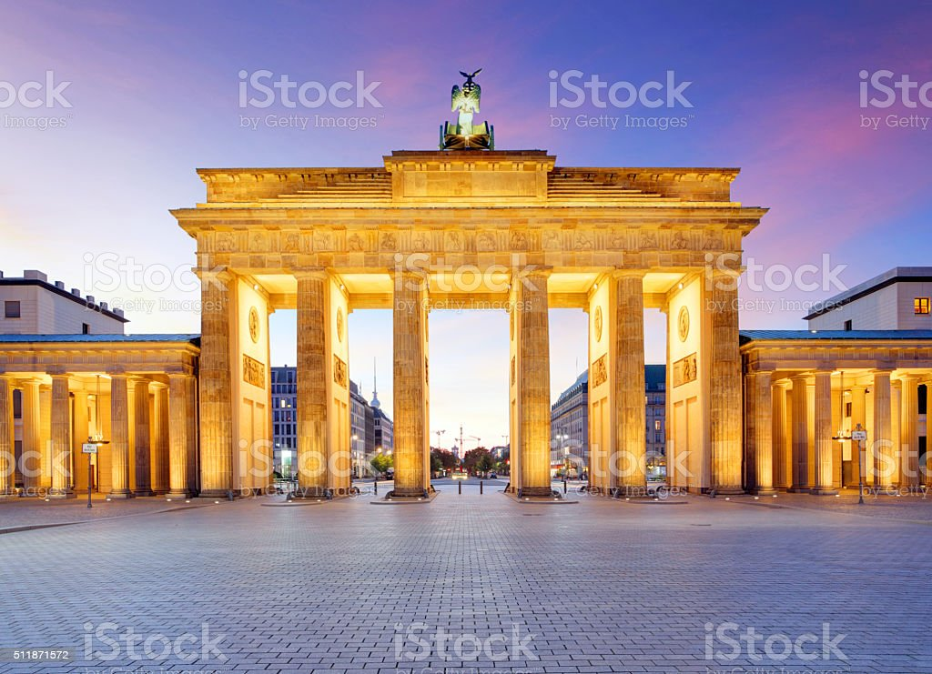 Brandenburg Gate, Berlin, Germany stock photo