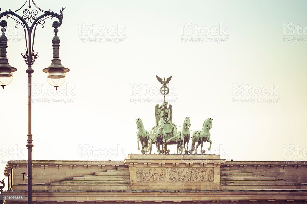 Brandenburg Gate Berlin Germany stock photo