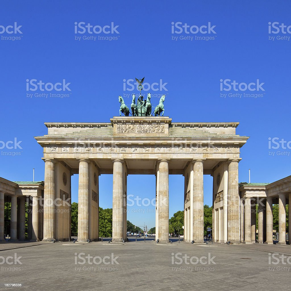 Brandenburg Gate, Berlin royalty-free stock photo