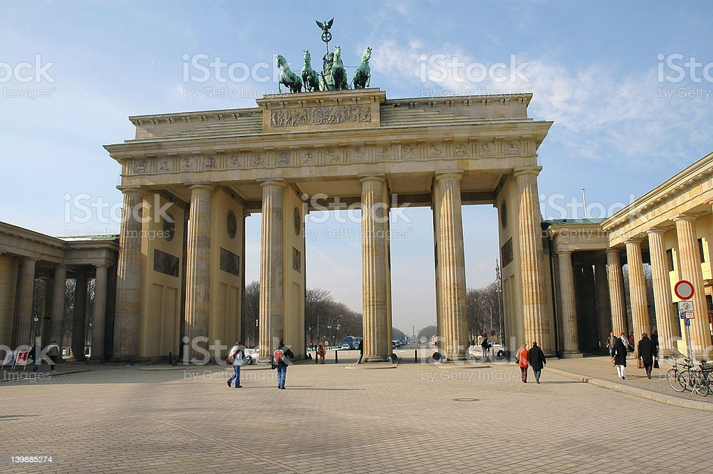 Brandenburg Gate in Berlin, Germany on a sunny day royalty-free stock photo