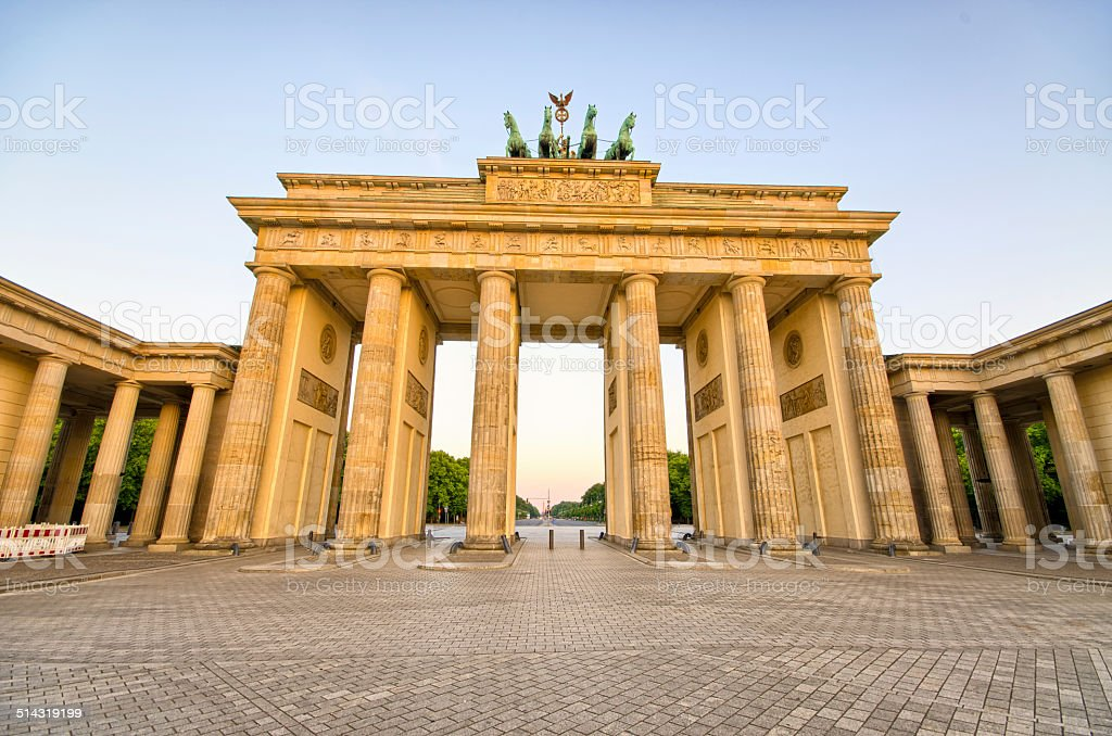 Brandenburg Gate in Berlin, Germany stock photo