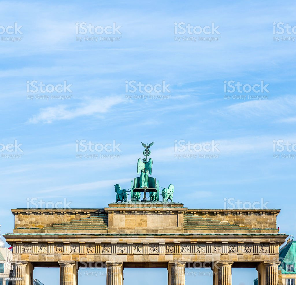 Brandenburg Gate (Brandenburger Tor) in Berlin stock photo
