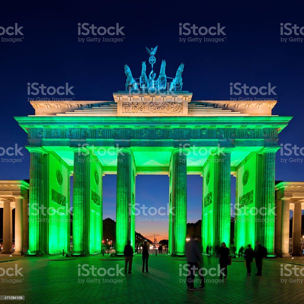 Brandenburg Gate in Berlin royalty-free stock photo