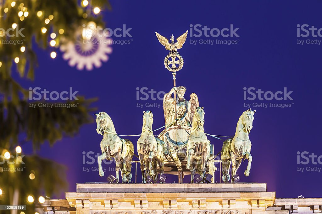 Brandenburg Gate in Christmas Time stock photo