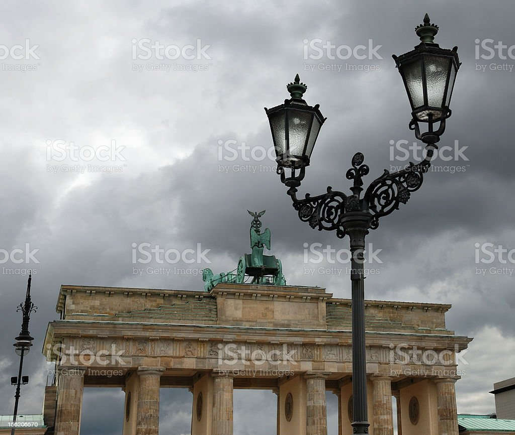 Brandenburg gate. royalty-free stock photo