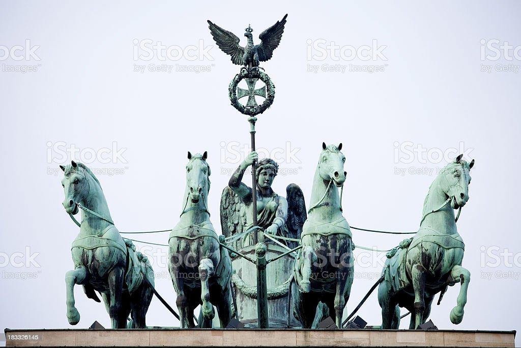 Brandenburg Gate, Quadriga at dawn stock photo