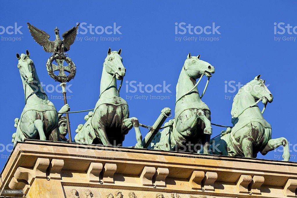 Brandenburg Gate Quadriga in Berlin royalty-free stock photo