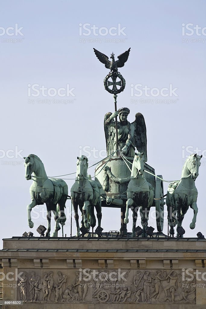 Brandenburg gate quadriga royalty-free stock photo