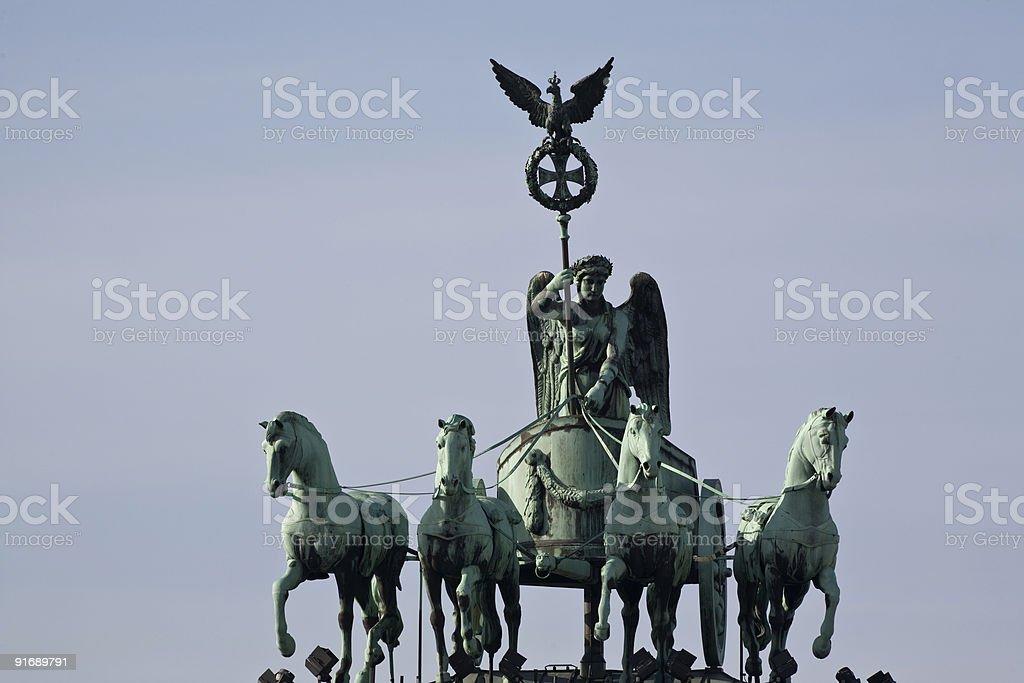 Brandenburg gate quadriga stock photo