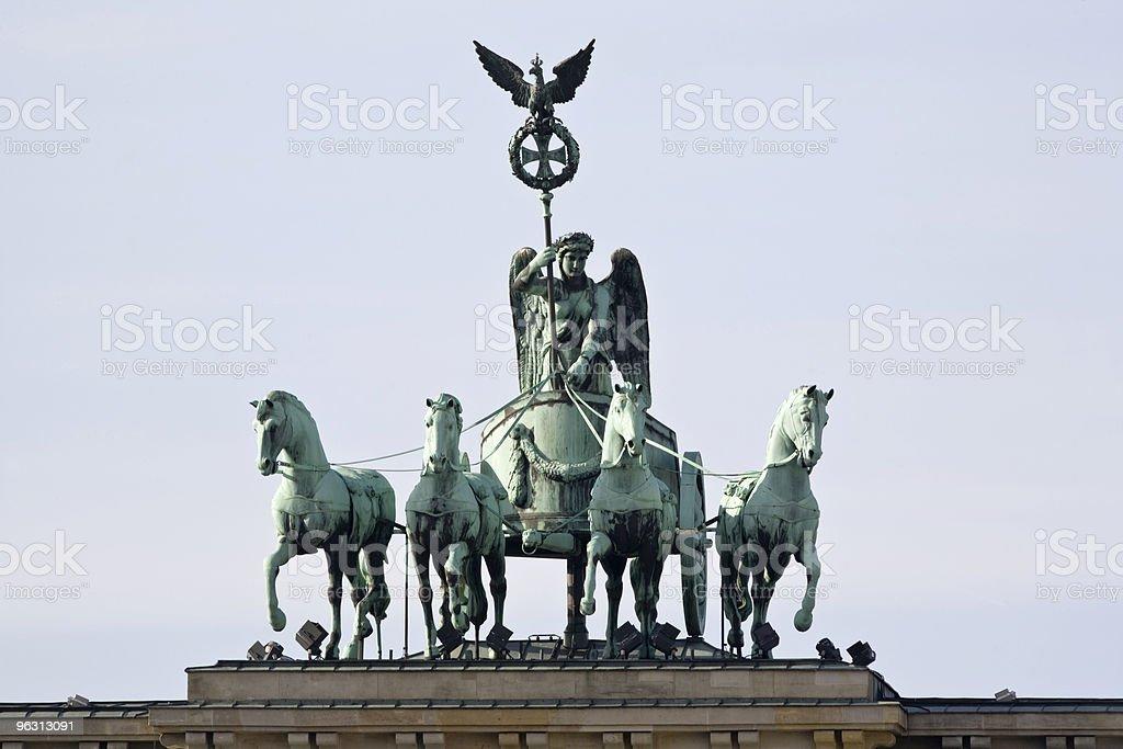 Brandenburg gate quadriga royalty-free stock photo