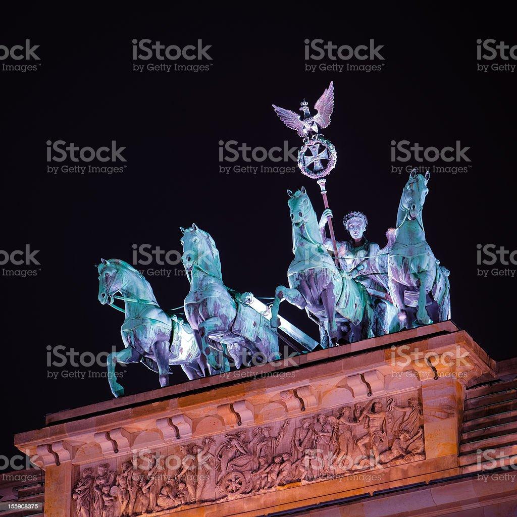 Brandenburger Gate in Berlin by Night Nobody royalty-free stock photo