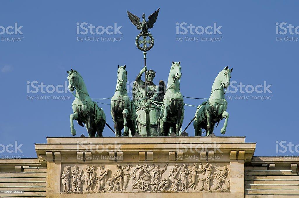 brandenburger gate in berlin stock photo