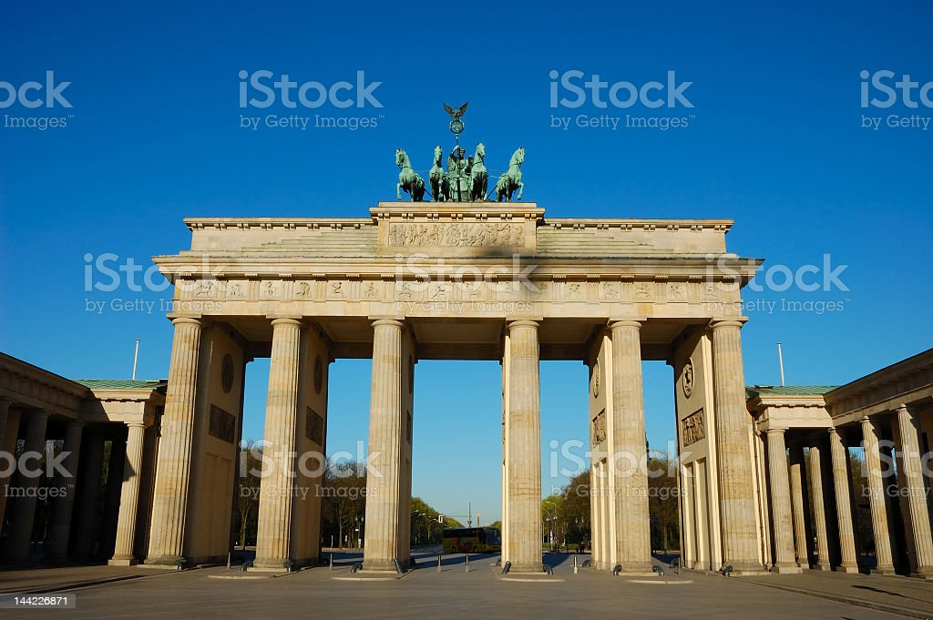 Brandenburger Gate in Berlin with the sky in the background royalty-free stock photo