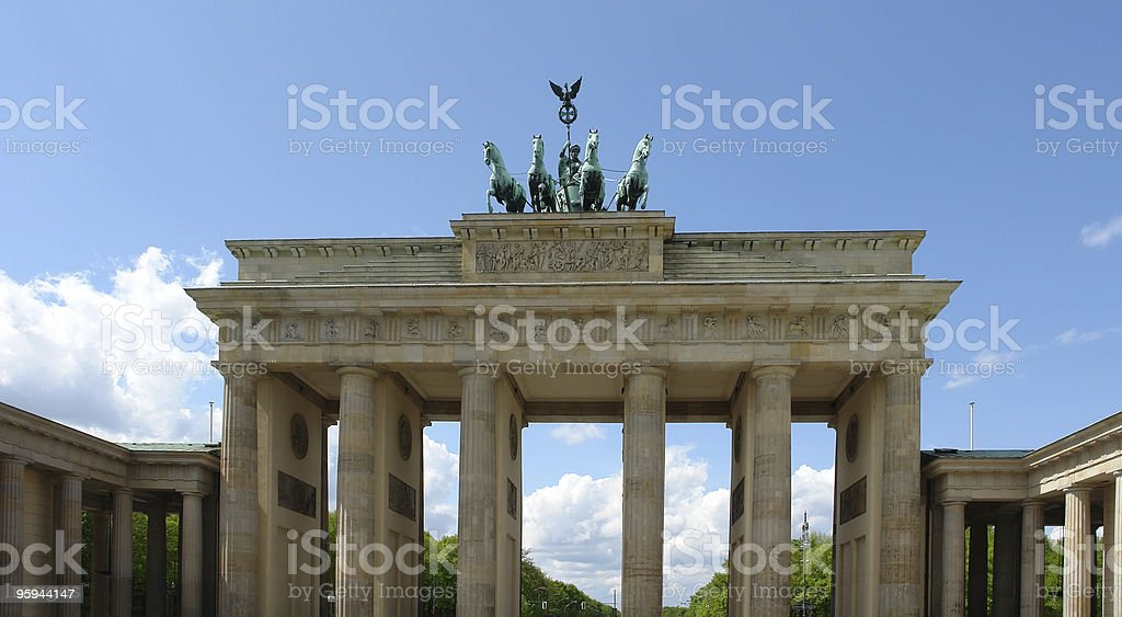 Brandenburger Tor detail at summer time royalty-free stock photo
