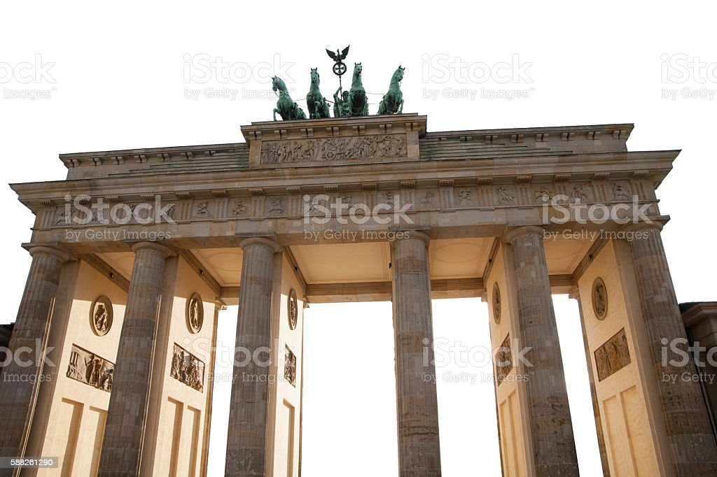 Brandenburger Tor isolated on white stock photo