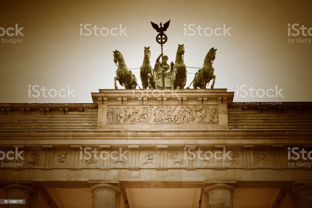 Branderburg Gate Berlin Germany stock photo