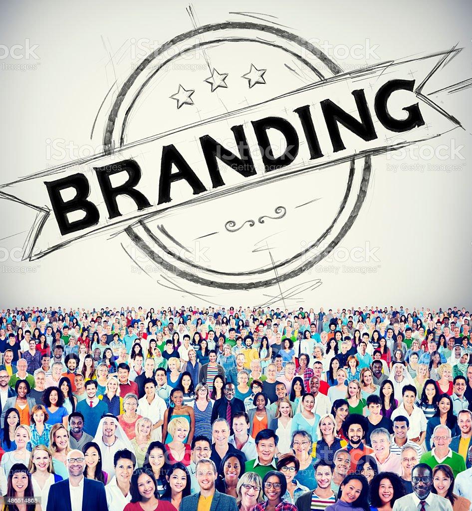 Branding Brand Copyright Trademark Marketing Concept stock photo
