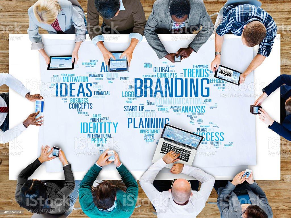 Branding Ideas Commercial Advertising Trademark Concept stock photo