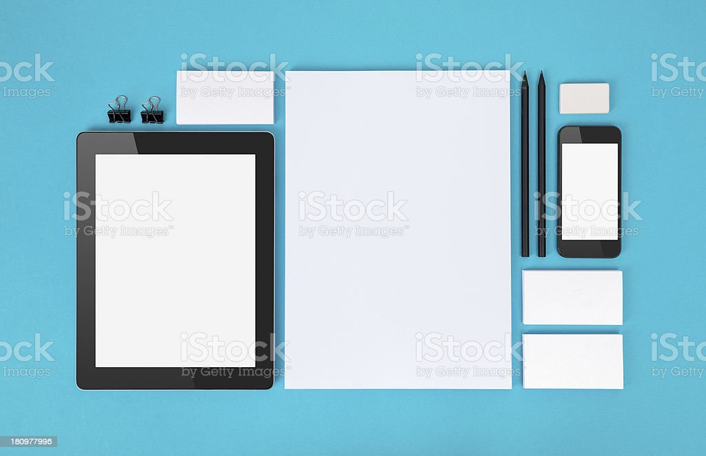 Branding identity objects royalty-free stock photo