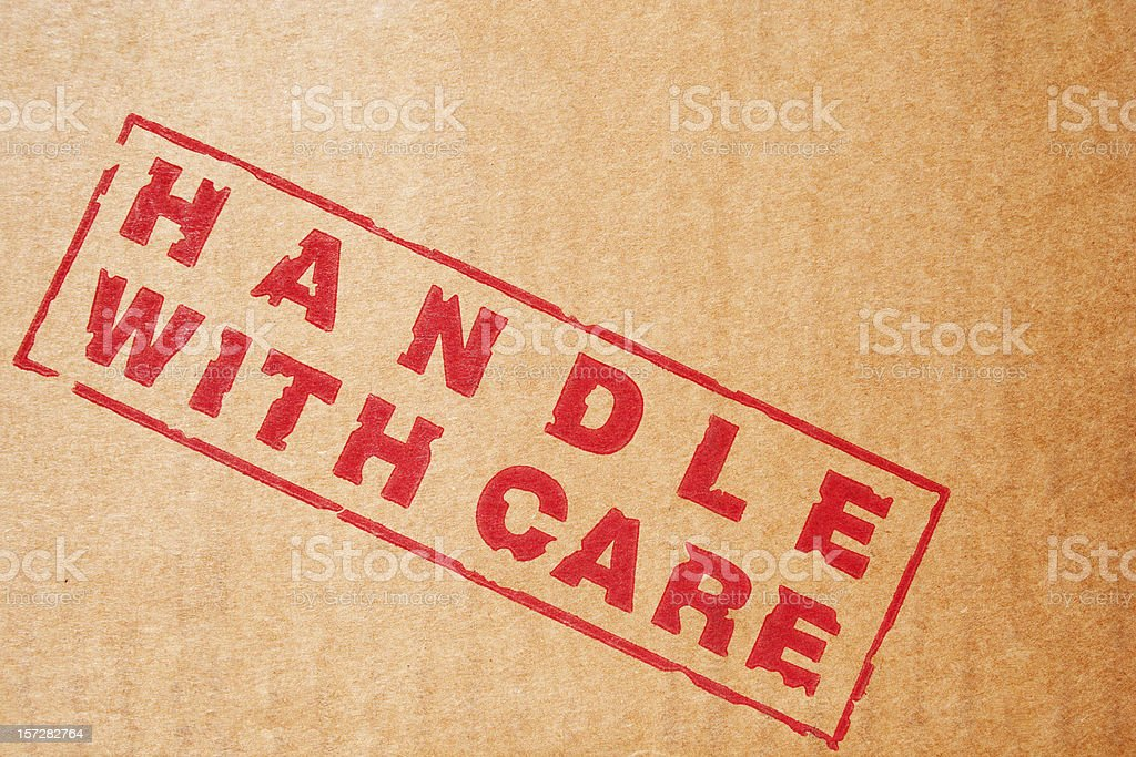Branding Label: Handle with Care royalty-free stock photo