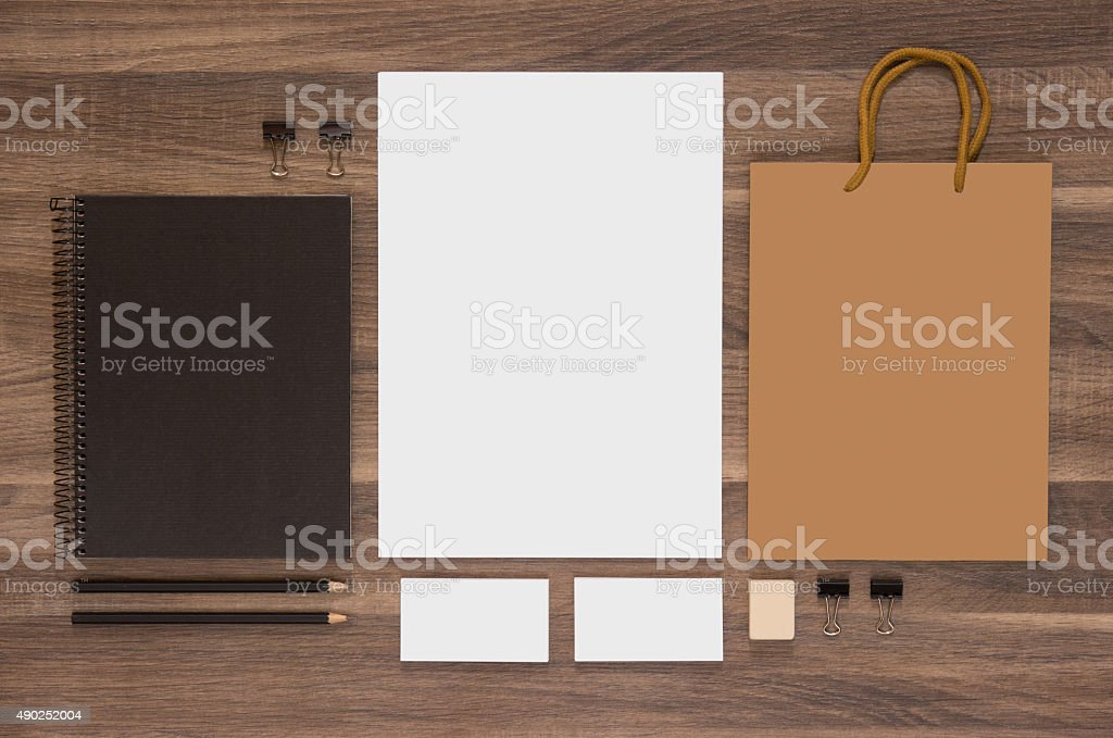 Branding mock-up collection for CI presentation stock photo