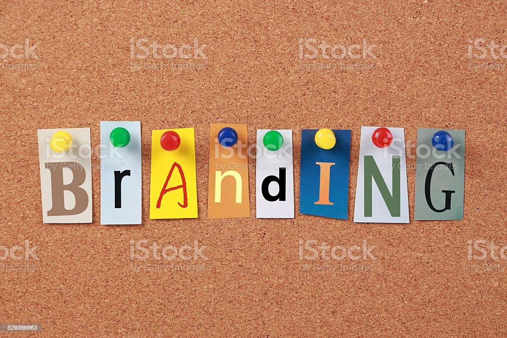Branding Single Word stock photo
