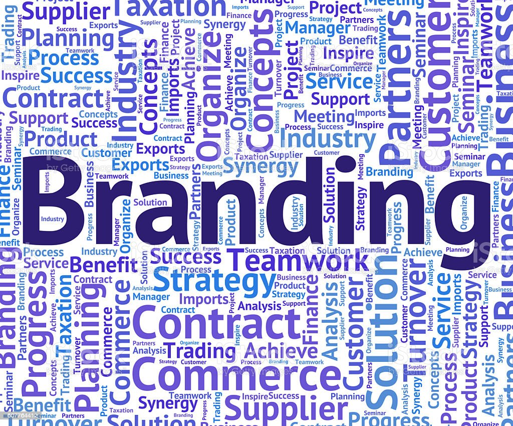 Branding Word Indicates Company Identity And Branded stock photo