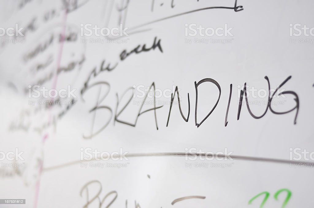 Branding word written on a dry erase board royalty-free stock photo