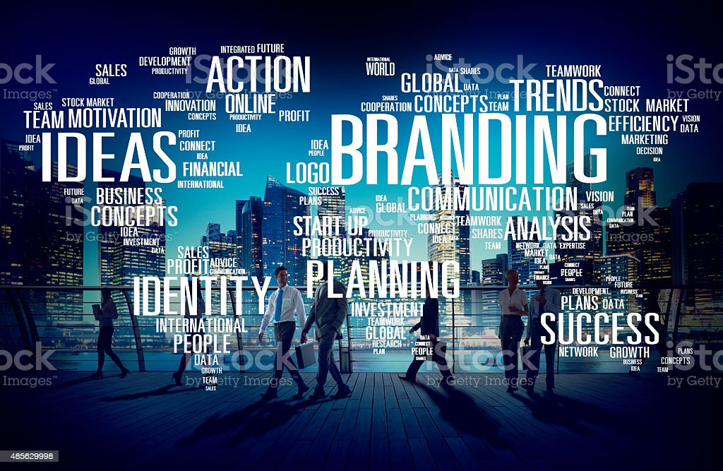 Branding World Global Marketing Identity Individuality Concept stock photo