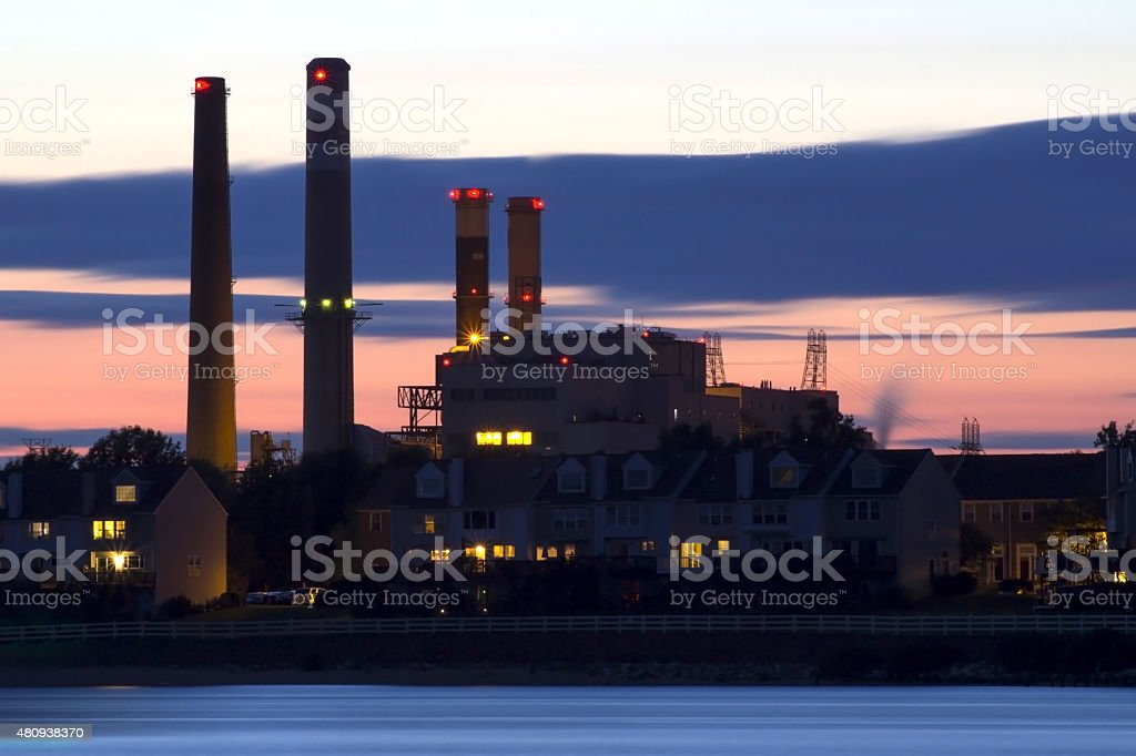 Brandon Shores Generating Station, Baltimore, MD stock photo