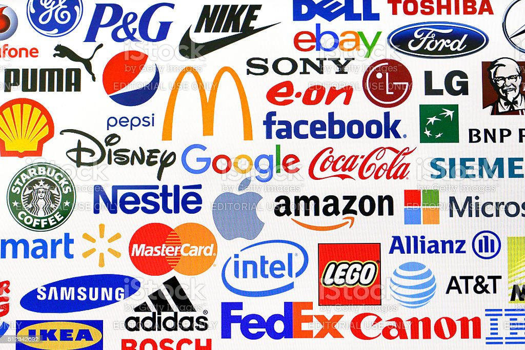 Brands and logos stock photo