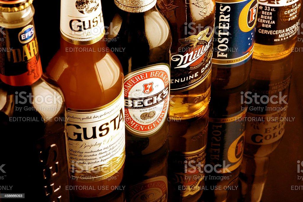 Brands Of Beer stock photo
