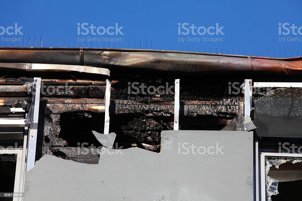 Brandschaden stock photo