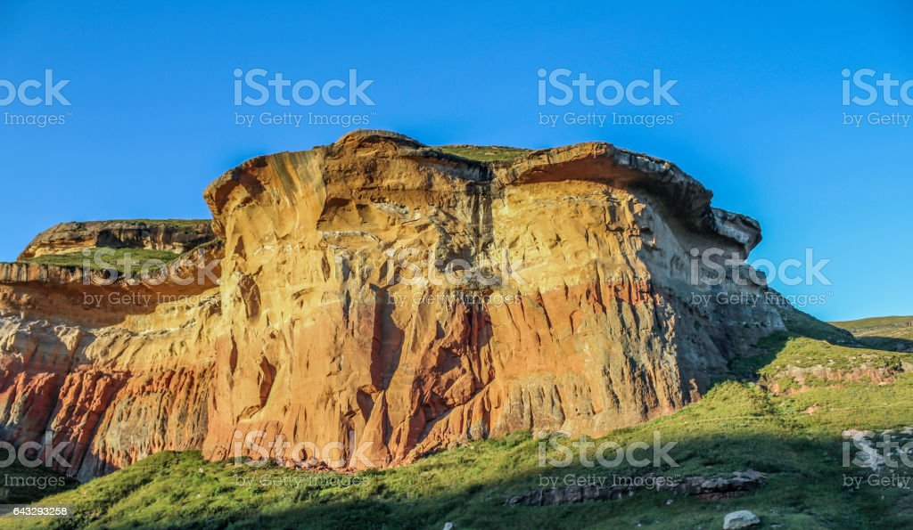 Brandwag Rock - Close-up - Golden Gate, South Africa stock photo