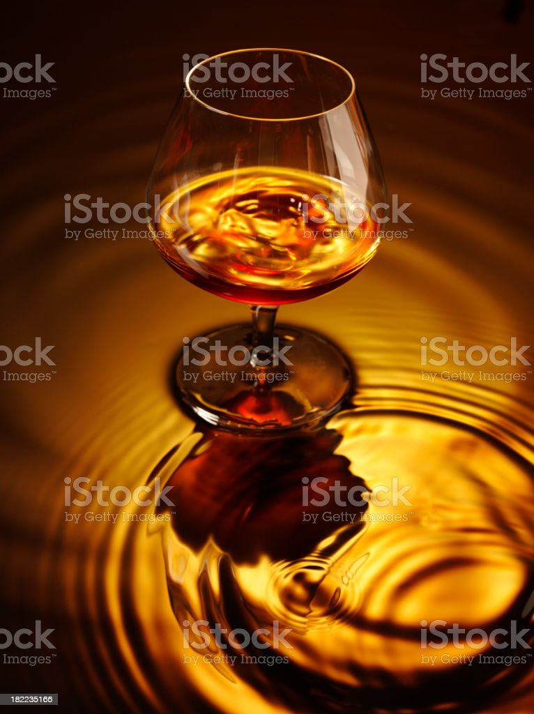 Brandy and Glass royalty-free stock photo