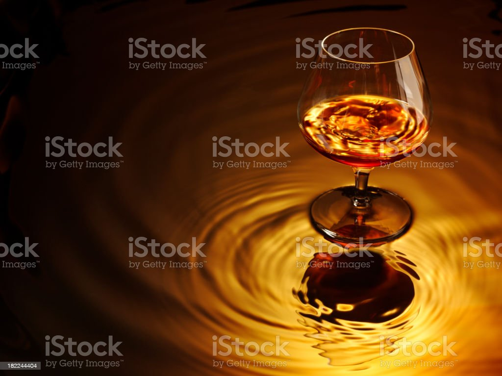 Brandy and Glass stock photo