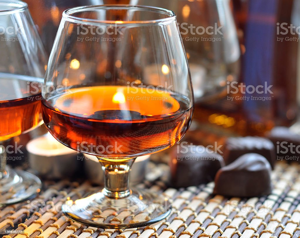 Brandy and sweet stock photo